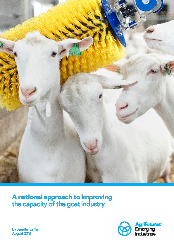 A national approach to improving the capacity of the goat industry - image