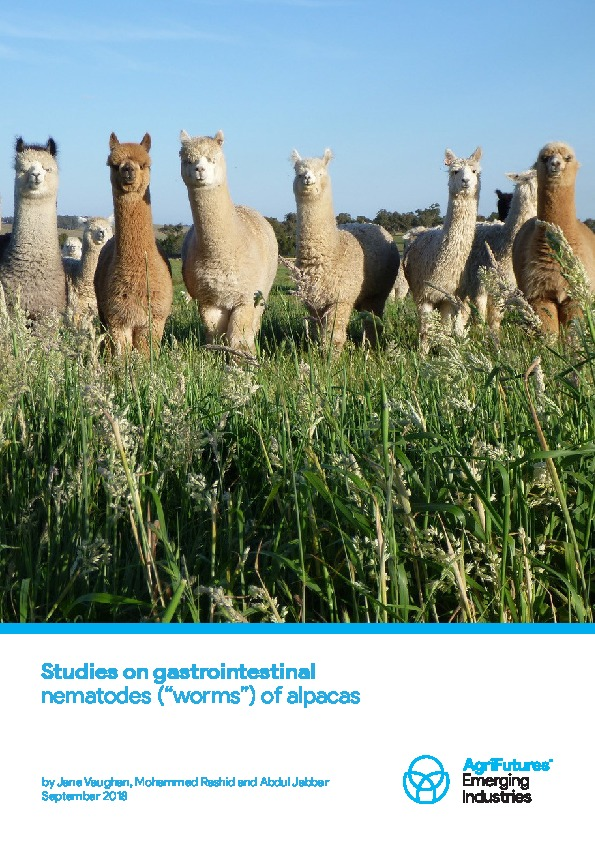 "Studies on gastrointestinal nematodes (""worms"") of alpacas - image"