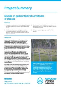 Project summary: Studies on gastrointestinal nematodes of alpacas - image