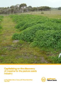 Capitalising on the discovery of messina for the pasture seeds industry - image