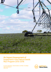 An Impact Assessment of Investment in the Pasture Seeds R&D Program 2013-2018 - image