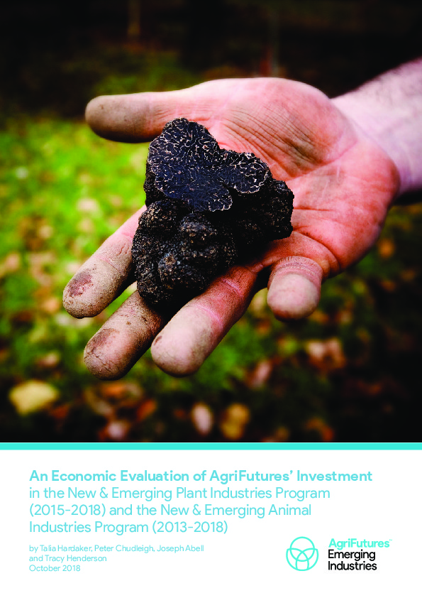 An Economic Evaluation of AgriFutures' Investment in the New & Emerging Plant Industries Program (2015-2018) and the New & Emerging Animal Industries Program (2013-2018) - image