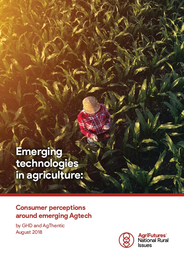 Emerging technologies in agriculture: Consumer perceptions around emerging agtech - image