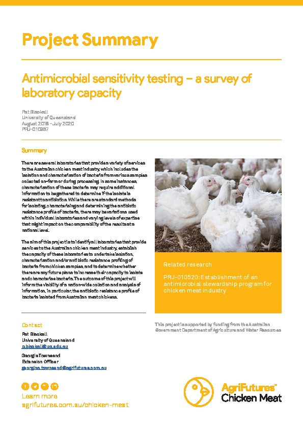 Project Summary: Antimicrobial sensitivity testing – a survey of laboratory capacity - image