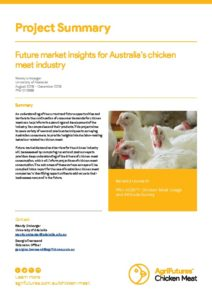 Project Summary: Future market insights for Australia's chicken meat industry - image