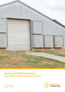 Review of AME bioassay for ingredient matrix values of poultry - image