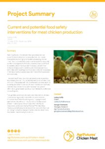 Project Summary: Current and potential food safety interventions for meat chicken production - image
