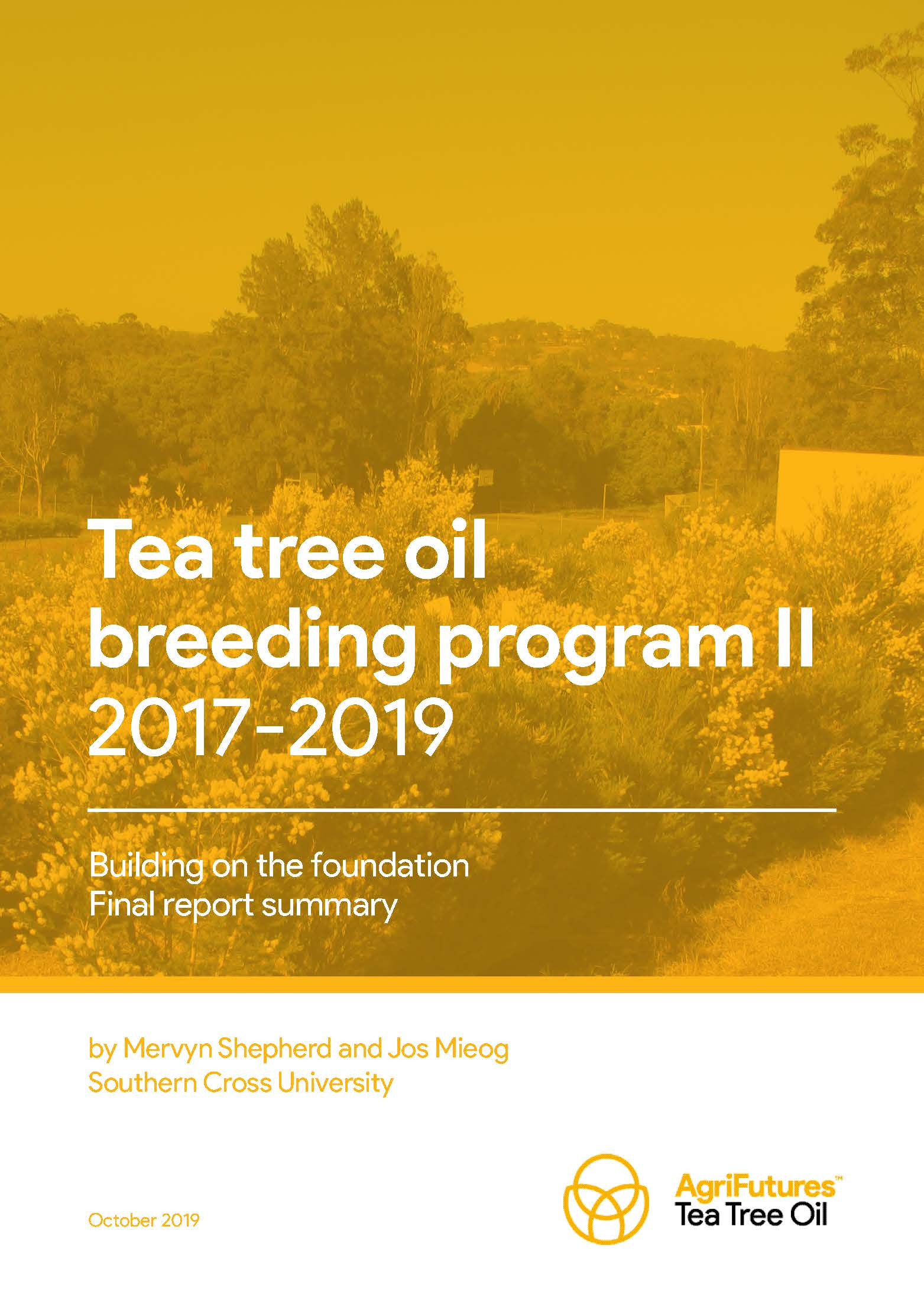 Final report summary: The Tea Tree Breeding Program II 2017-2019 - image