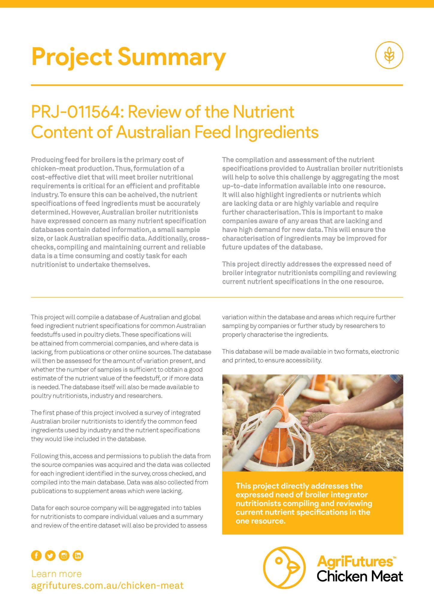 Project summary: Review of the Nutrient Content of Australian Feed Ingredients - image