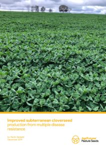 Improved subterranean cloverseed production from multiple disease resistance - image