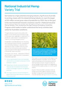 Fact sheet: National Industrial Hemp Variety Trial - image
