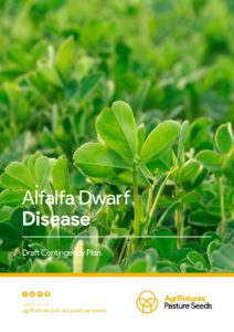 Alfalfa Dwarf Disease - Draft Contingency Plan - image