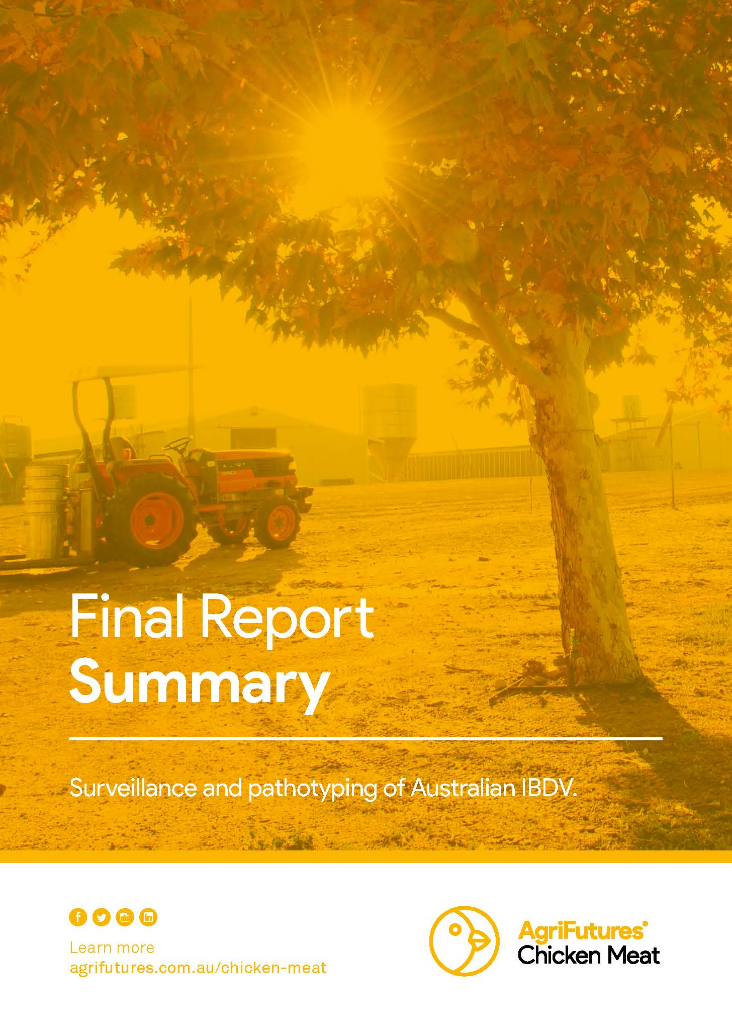 Final Report Summary: Surveillance and pathotyping in Australian IBDV - image