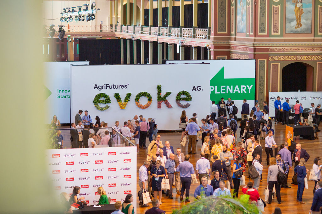 evokeAG sign at event