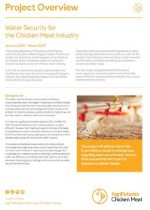 Project overview: Water security for the chicken meat industry - image