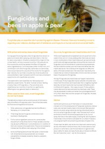 Fungicides and bees in apple & pear - image