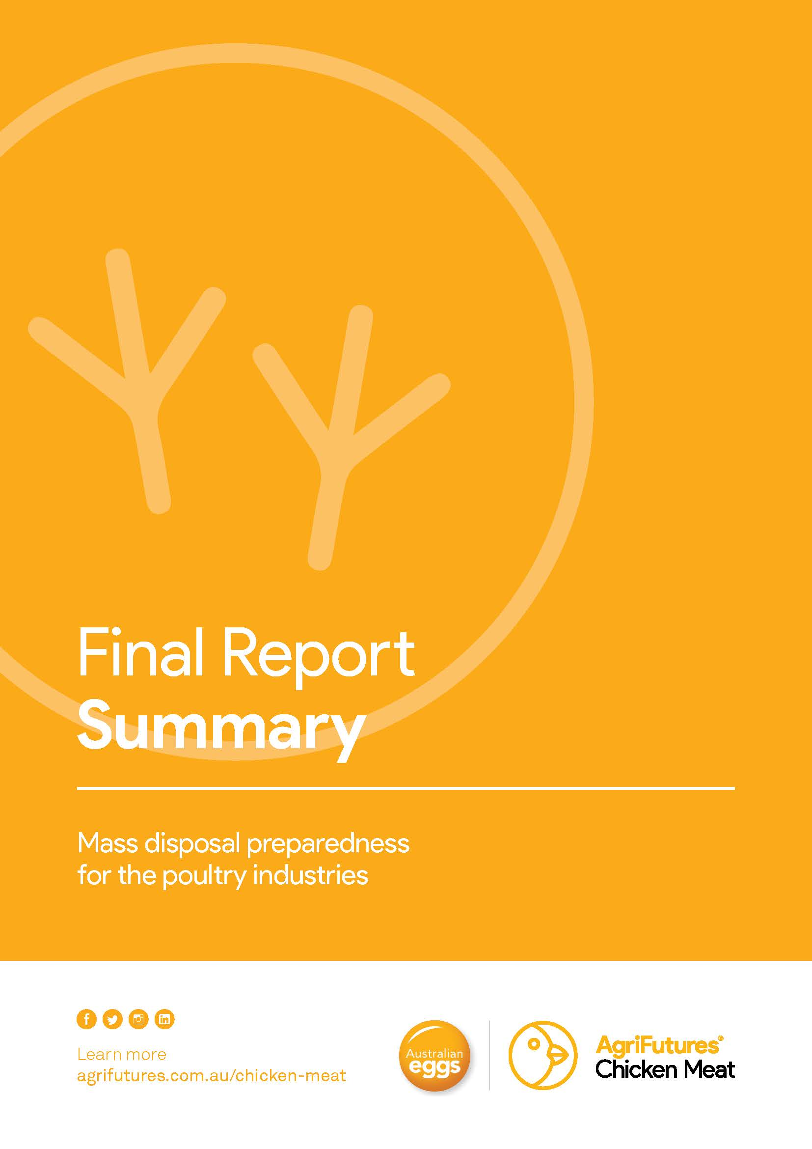 Final Report Summary: Mass disposal preparedness for the poultry industries - image