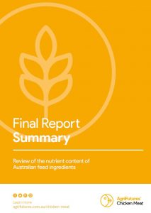 Final Report Summary: Review of the nutrient content of Australian feed ingredients - image