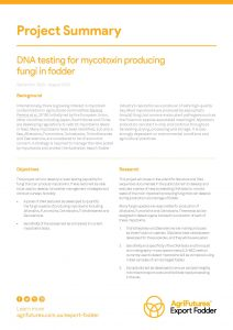 Project overview: DNA testing for mycotoxin producing fungi in fodder - image