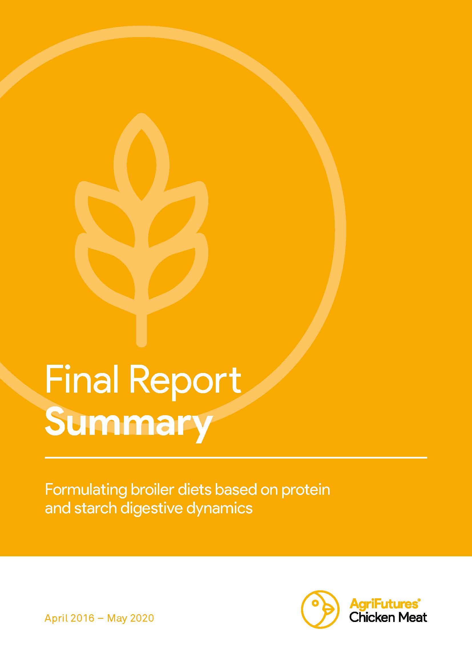 Final report summary: Formulating broiler diets based on protein and starch digestive dynamics - image