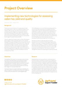 Project overview: Implementing new technologies for assessing oaten hay yield and quality - image