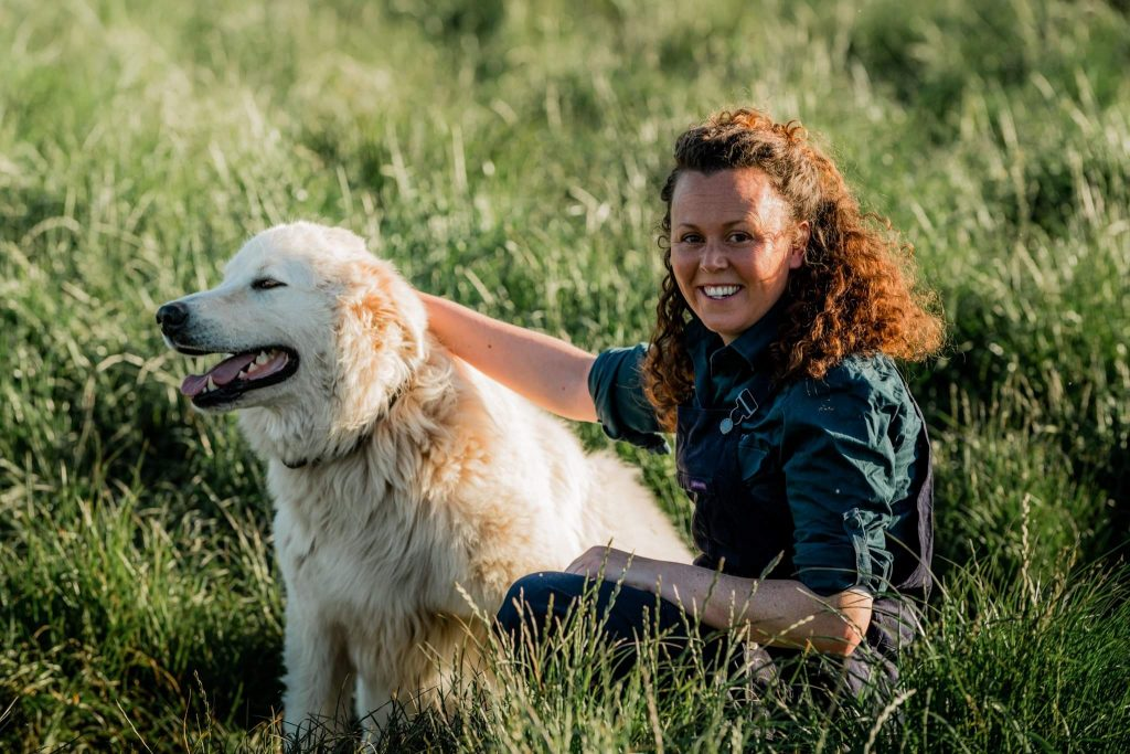 Claire Moore, 2019 AgriFutures Rural Women's Award National Runner Up, with her dog