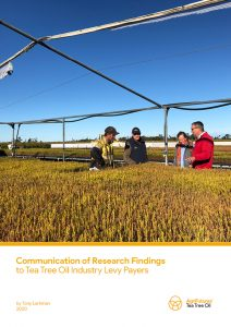 Communication of Research Findings to Tea Tree Oil Industry Levy Payers - image