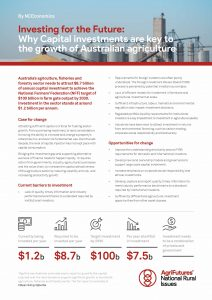 Fact sheet: Investing for the Future - Why Capital investments are key to the growth of Australian agriculture - image