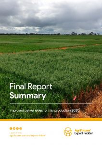 Final report summary: Improved oat varieties for hay production 2020 - image