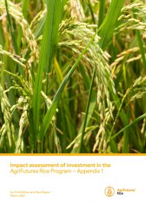 Impact assessment of investment in the AgriFutures Rice Program – Appendix 1 - image