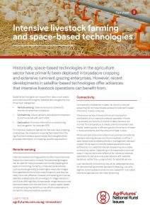 Fact sheet: Intensive livestock farming and space-based technologies - image
