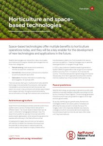 Fact sheet: Horticulture and space-based technologies - image