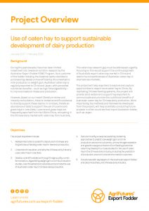 Project Overview: Use of oaten hay to support sustainable development of dairy production - image