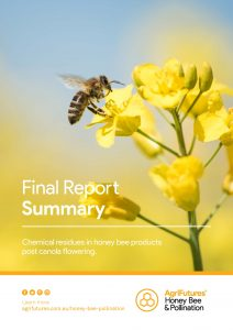 Final report summary: Chemical residues in honey bee products post canola flowering - image