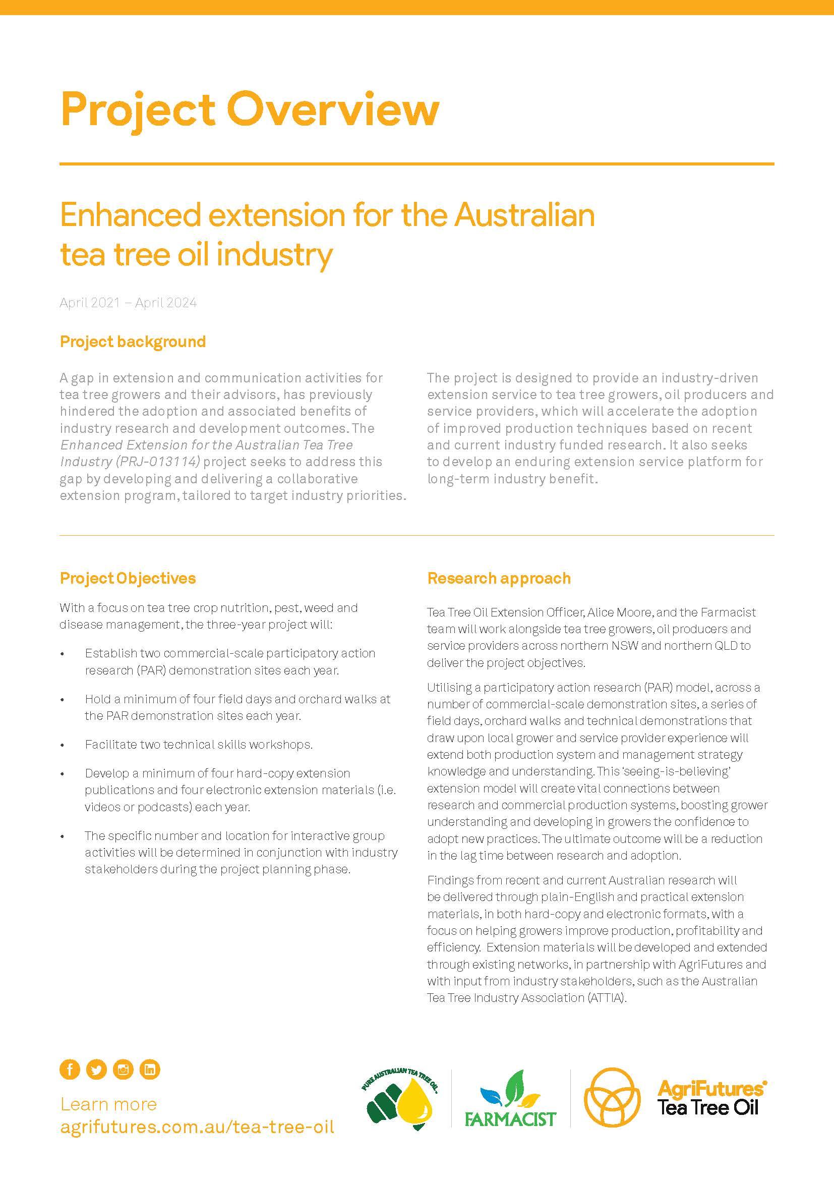 Project overview: Enhanced extension for the Australian tea tree oil industry - image