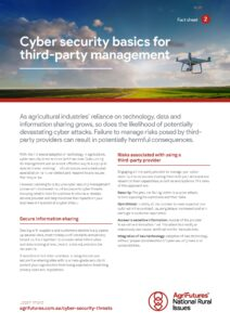Fact sheet: Cyber security basics for third-party management - image