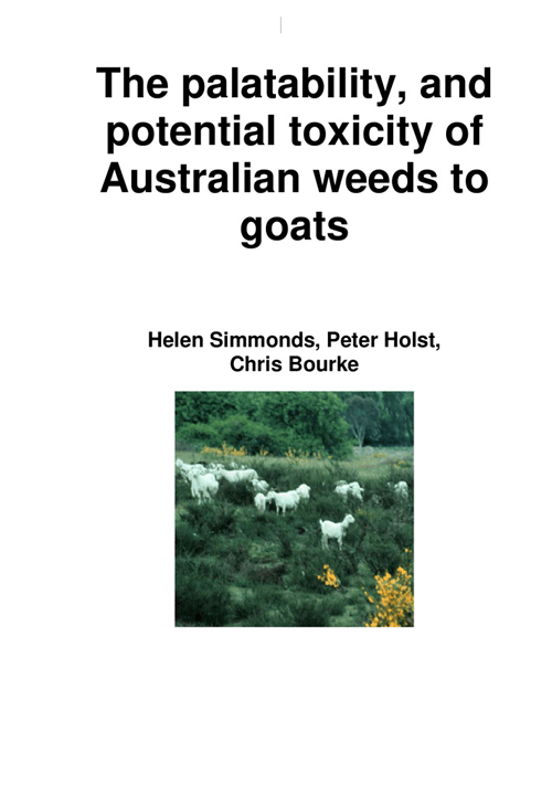 The Palatability & Potential Toxicity of Australian Weeds to Goats - image