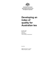 Developing an index of quality Australian tea - image