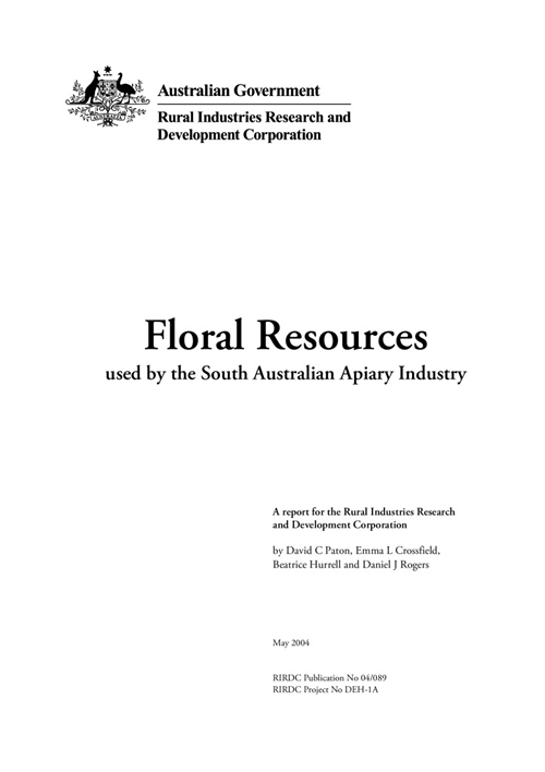 Floral resources used by the South Australian Apiary Industry - image