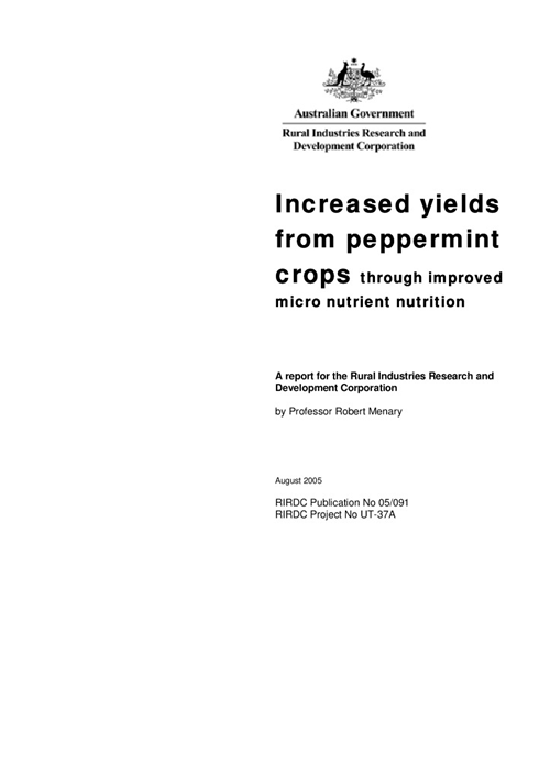 Increased Yields from Peppermint Crops - image