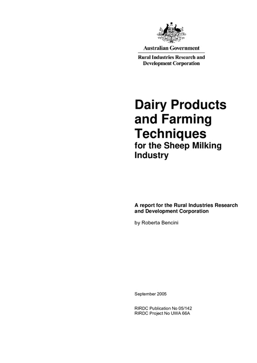 Dairy products & farming techniques - image