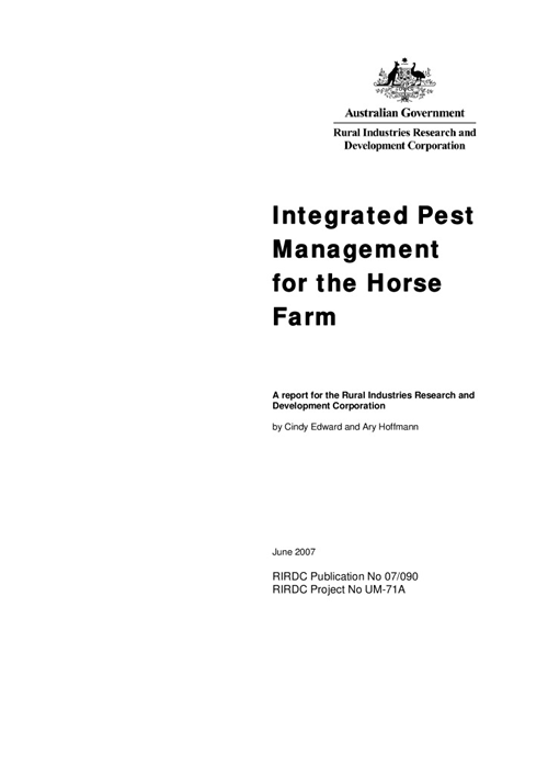 Integrated Pest Management for the Horse Farm - image