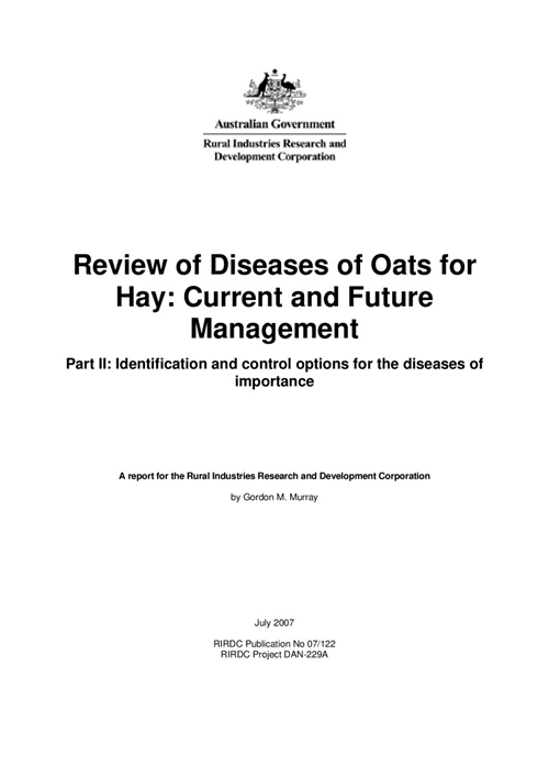 Review of Diseases of Oats for Hay: Current and future management - image