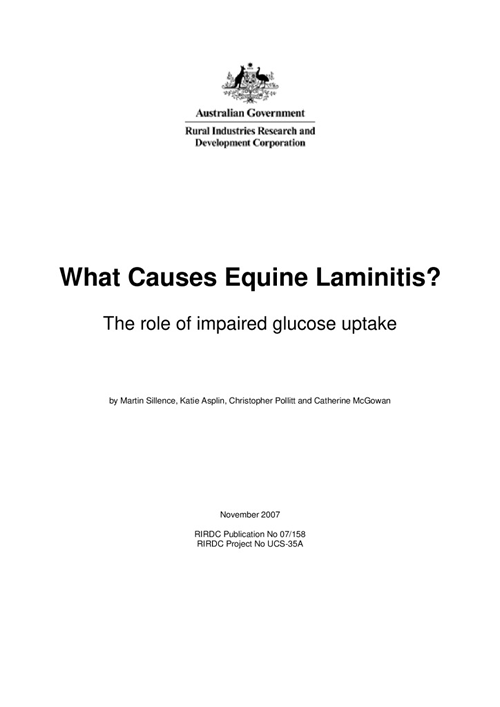 What Causes Equine Laminitis? The role of impaired glucose uptake - image