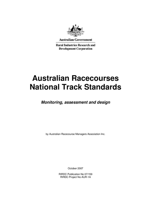 National Track Standards for Track Monitoring, Assessment and Design - image