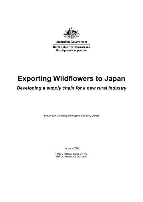 Exporting Wildflowers to Japan - Developing a supply chain for a new rural industry - image