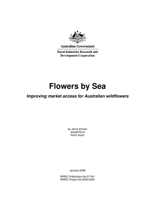 Flowers by Sea - Improving market access for Australian wildflowers - image