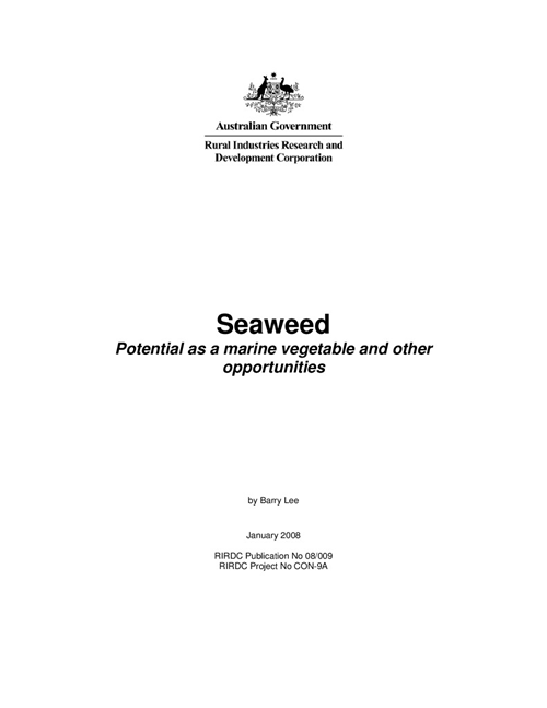 Seaweed: Potential as a marine vegetable and other opportunities - image