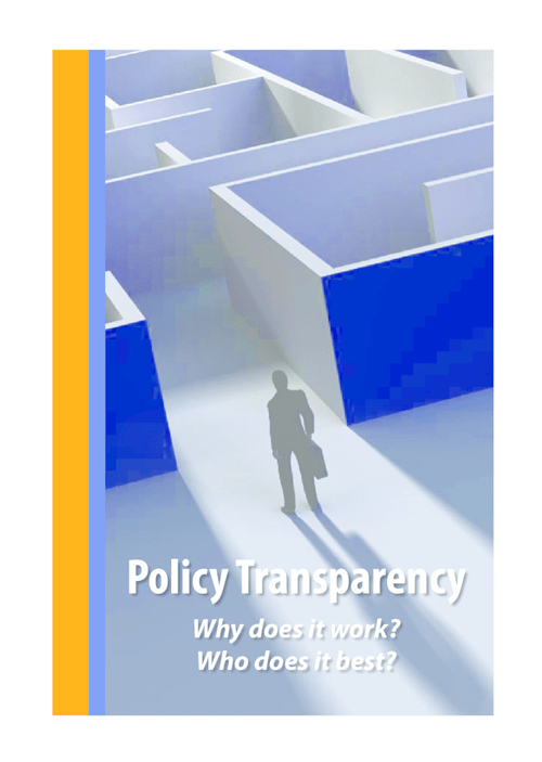 Policy Transparency - Why does it work? Who does it best? - image