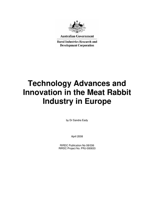 Technology Advances and Innovation in the Meat Rabbit Industry in Europe - image